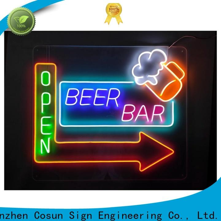 COSUN hot-sale hello gorgeous neon sign factory for restaurant