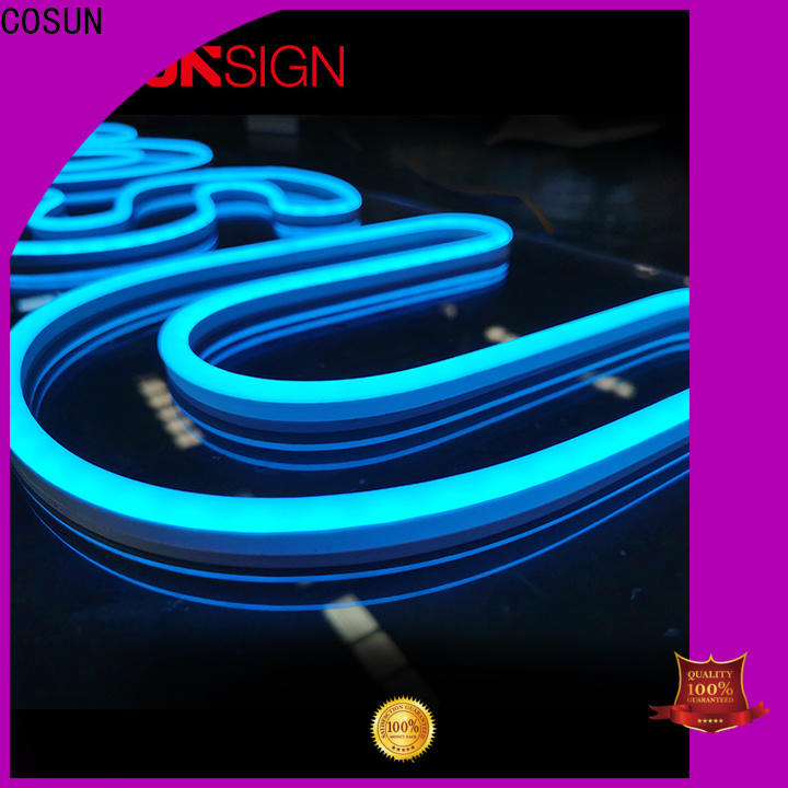 COSUN eye-catching blue neon sign company for house