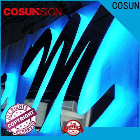COSUN plastic acrylic led light box manufacturers for shop