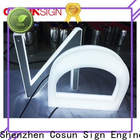 COSUN Latest acrylic light boxes for restaurant