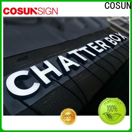 COSUN High-quality acrylic light boxes easy installation for shop