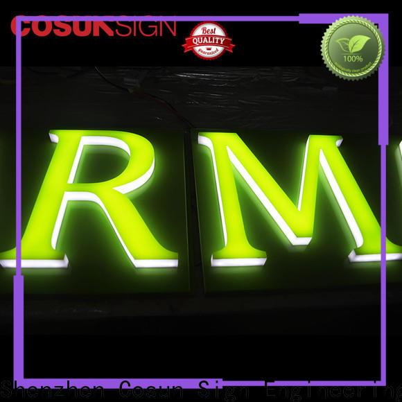 COSUN led base neon acrylic for restaurant
