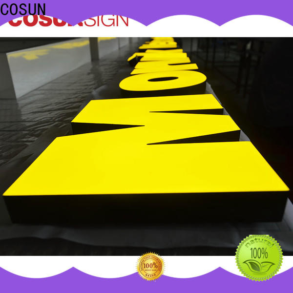 COSUN high-quality custom acrylic led sign for restaurant