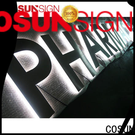 COSUN high-quality acrylic light boxes at discount for shop