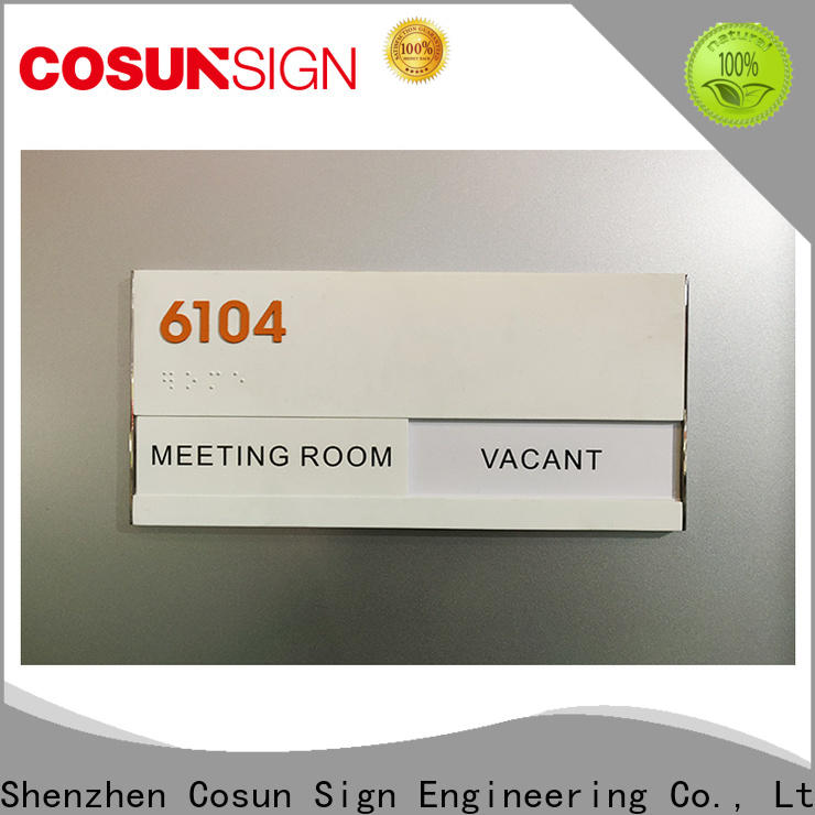 COSUN stainless steel outdoor bar signs company for toilet signage