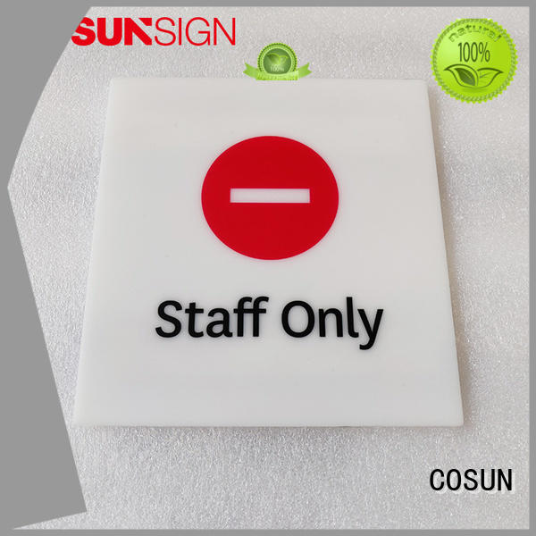 COSUN brushed surface custom door signs house decoration