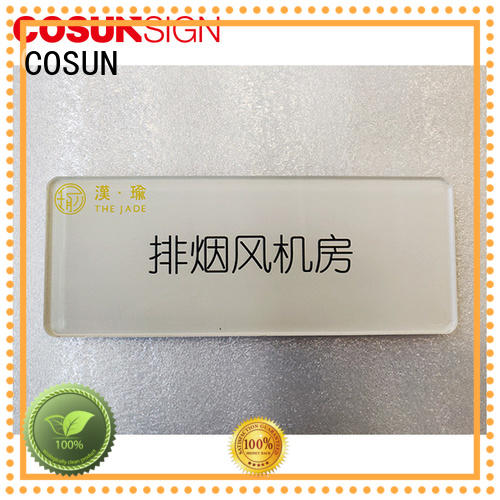 COSUN stainless steel house name plaques laser cutting