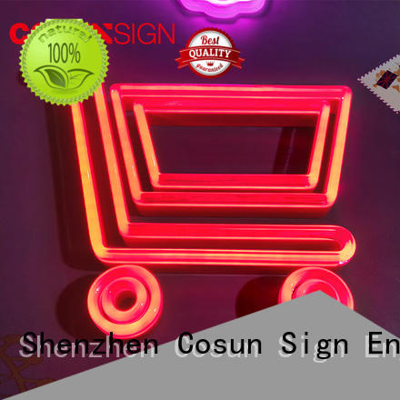 COSUN New make your own neon sign manufacturers for restaurant