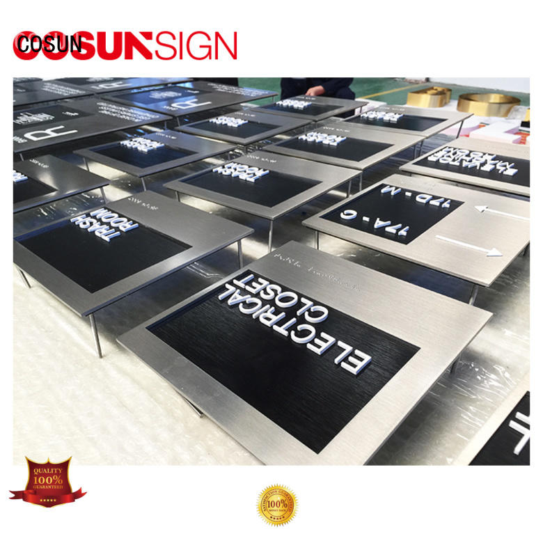 COSUN Best personalized office door plaques Suppliers for wholesale