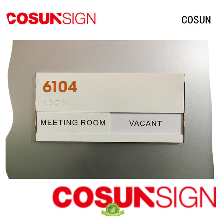 office door signs etched for door COSUN