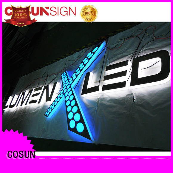 Wholesale acrylic light up sign clear letter at discount for restaurant