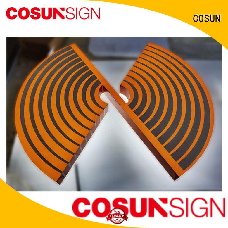 COSUN cheapest price acrylic logo sign inquire now