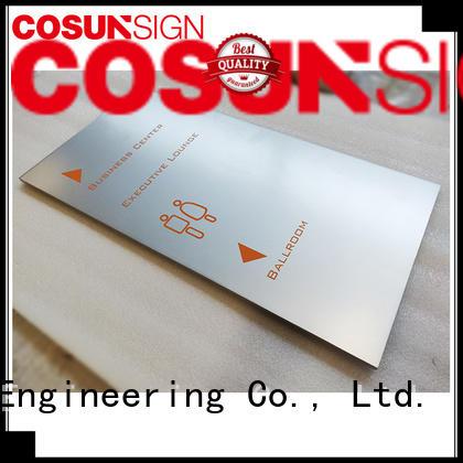 open closed door signs cnc aluminum for door COSUN