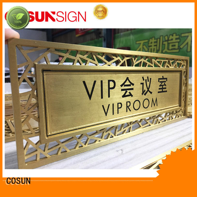 COSUN logo custom principal door signs Suppliers for hotel
