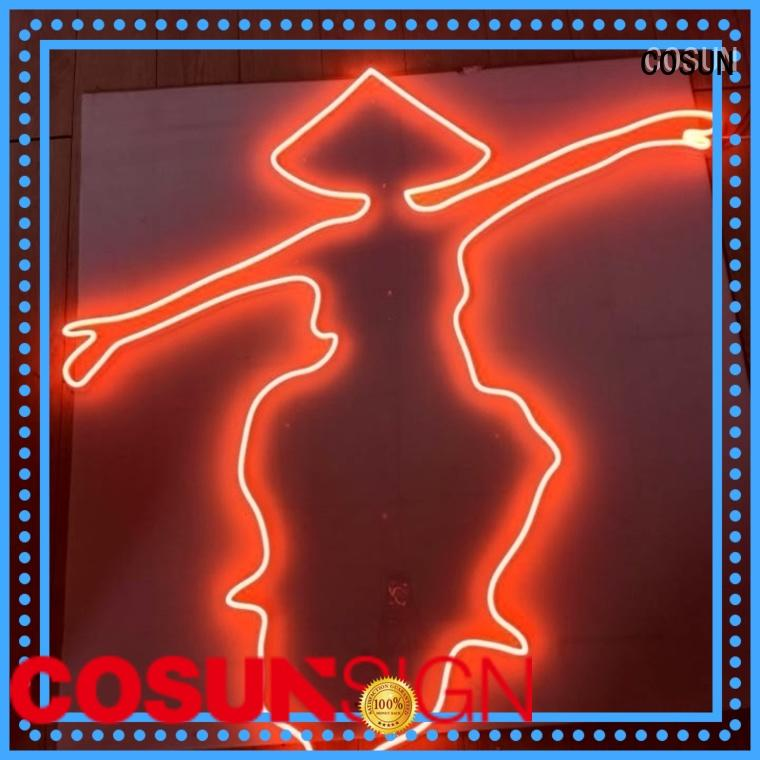 COSUN Latest custom led neon signs company for decoration