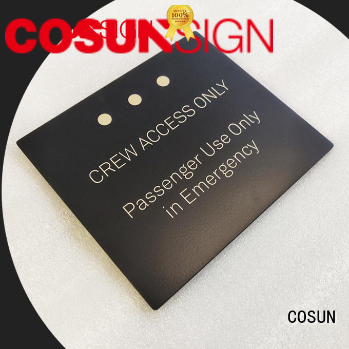 Best custom door placards cnc aluminum for business for warning