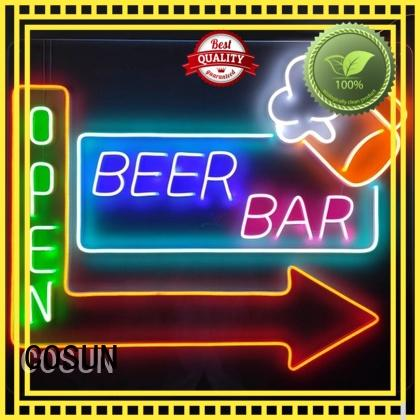 COSUN Wholesale custom neon lights for sale company for warning