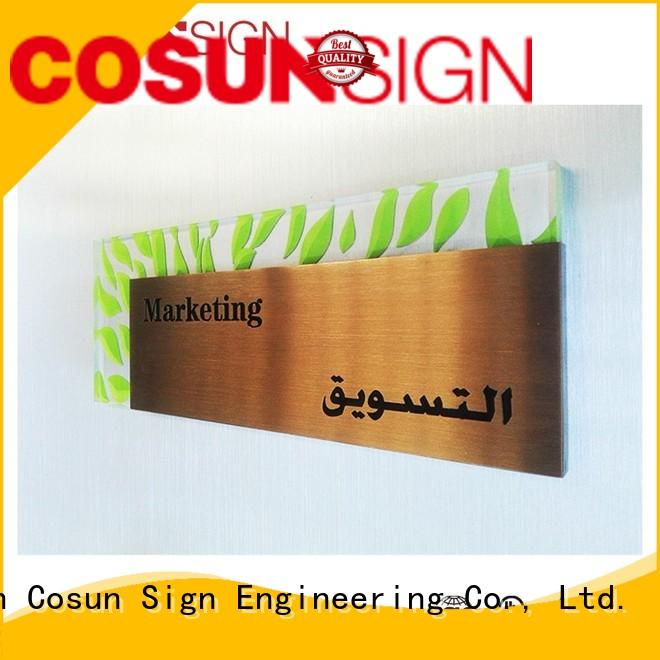 COSUN painted personalized door signs for home company for warning