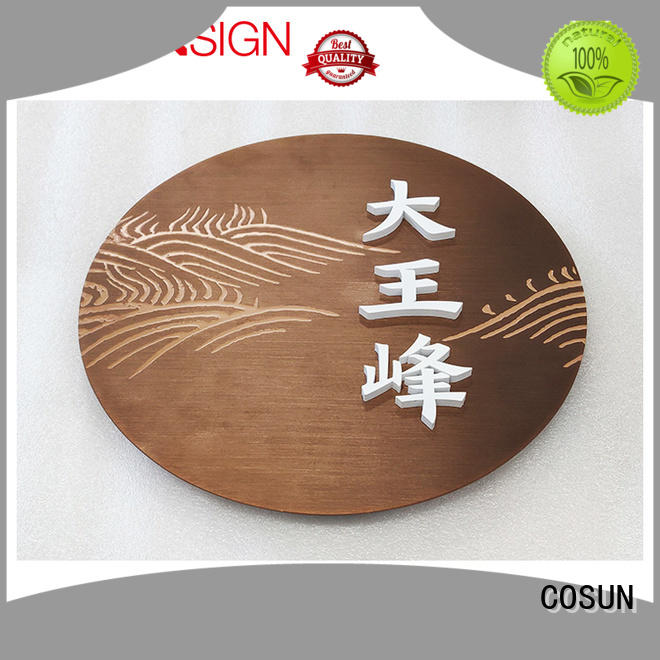 COSUN Custom sign on the door for business for decoration