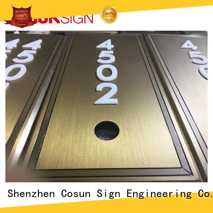 COSUN logo custom cheap door plaques manufacturers for warning