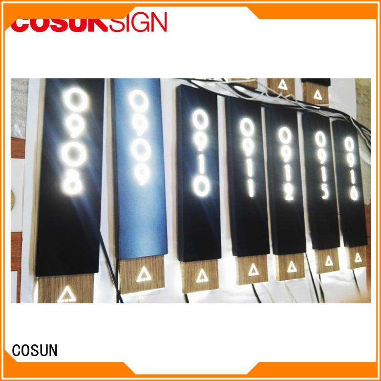 frame door signage laser cutting for warning