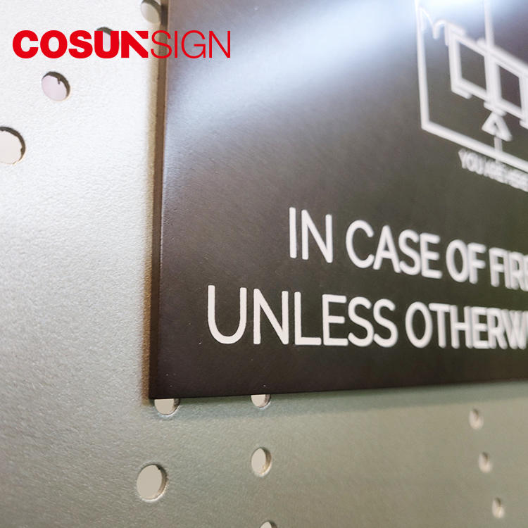 COSUN stainless steel door signs thermoforming for toilet signage
