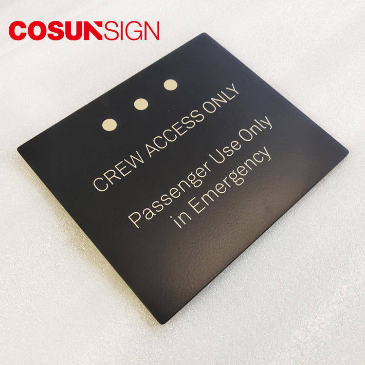 Cosun Customized Aluminum Metal Plates Logo
