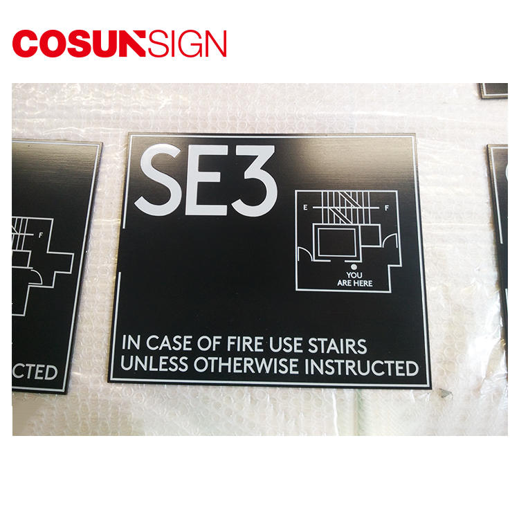 Stainles Steel Safety Sign Laser Cutting