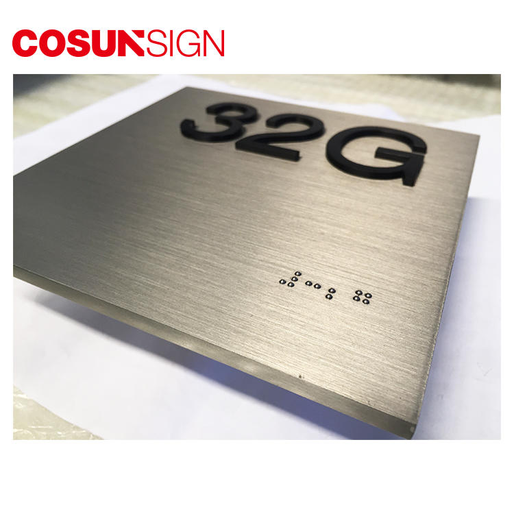 Brushed Surface Customized Metal Logo Plate