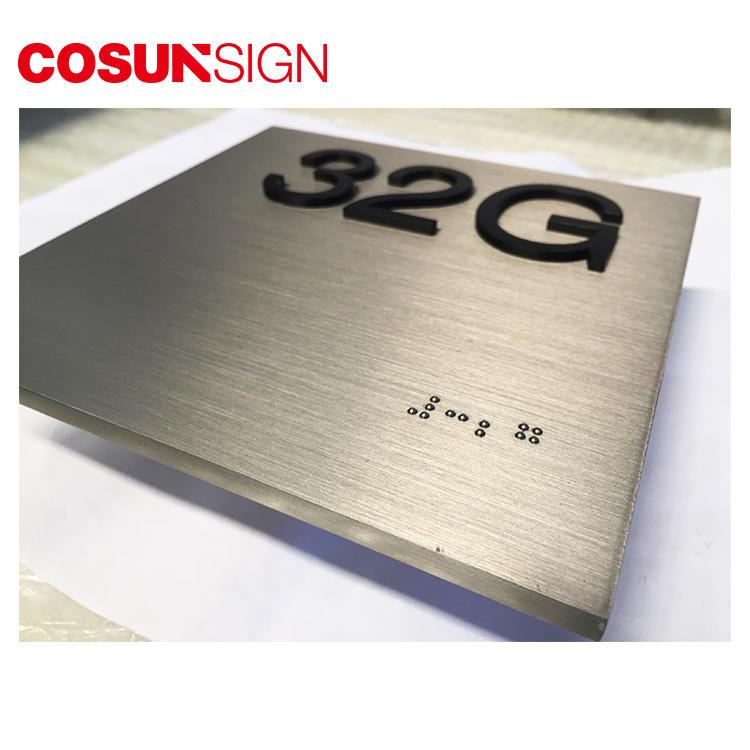 Brushed Surface Customized Metal Logo Plate