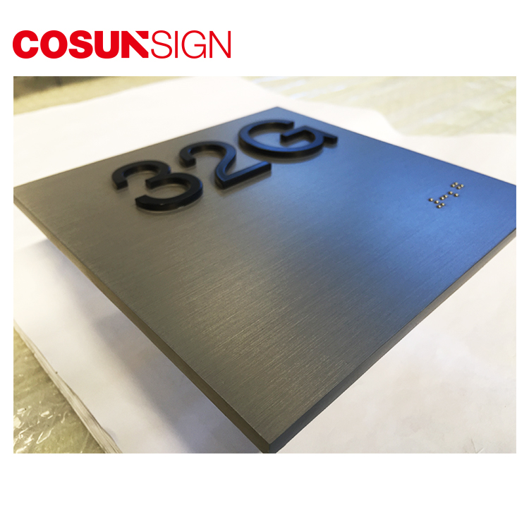 COSUN cnc aluminum gaming door sign Suppliers for warning-5