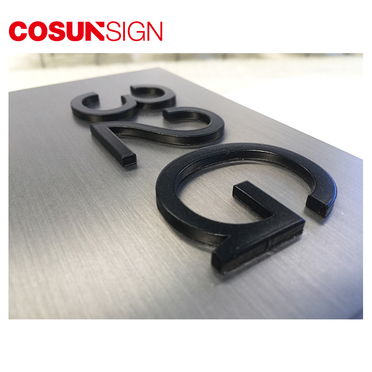 COSUN cnc aluminum gaming door sign Suppliers for warning-8