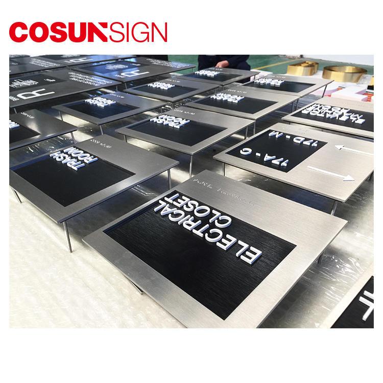 Cosun Brushing Stainles Steel 3D Metal Logo Plate