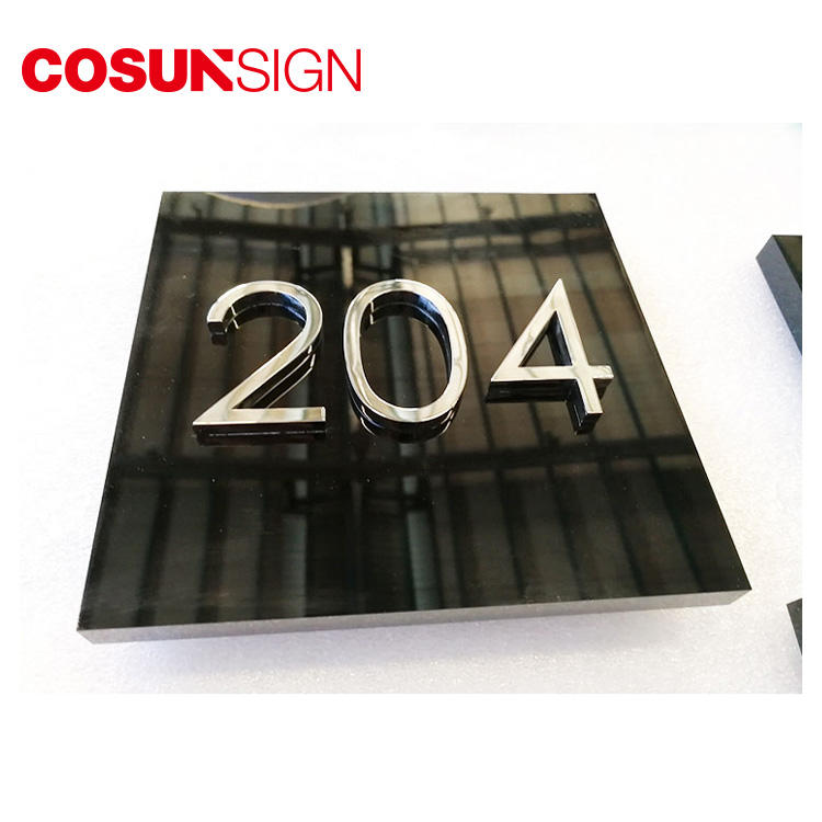 COSUN Custom auto door signage factory for warning