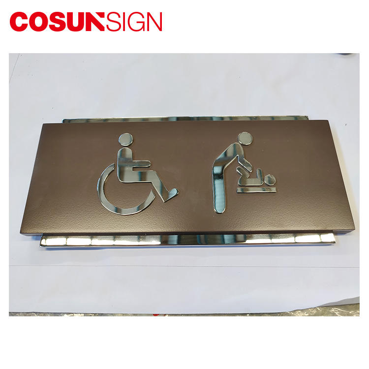 COSUN braille wc door sign buy now for door