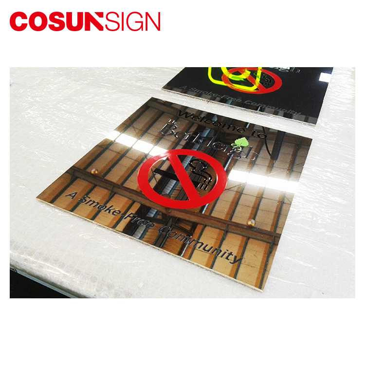COSUN New glass office signs manufacturers house decoration-5
