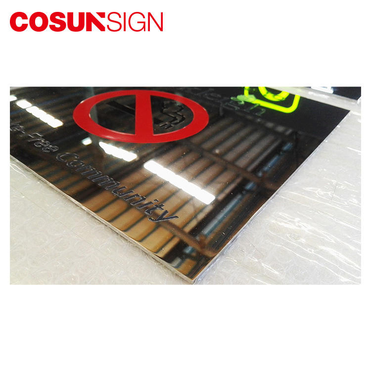 COSUN frame blank number plate acrylic for shop