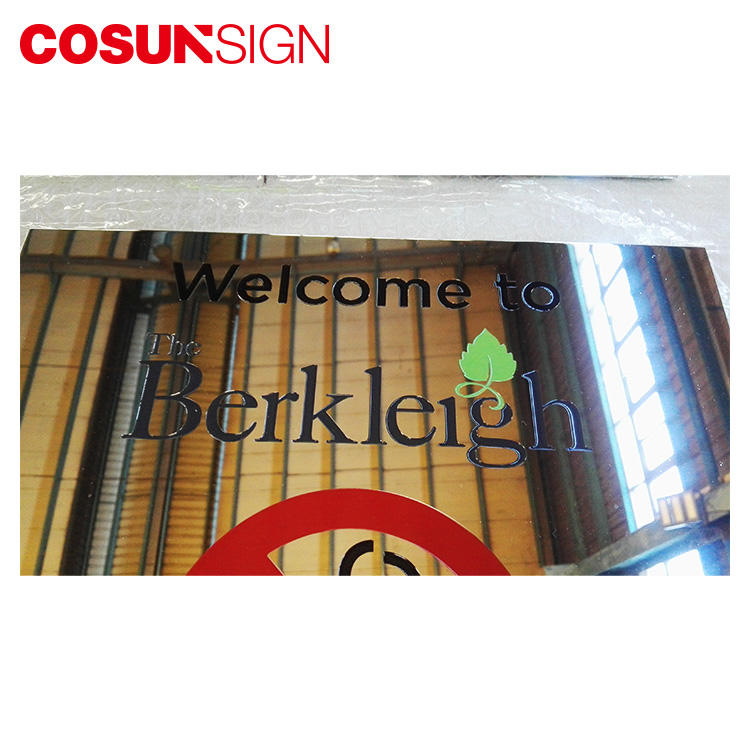 COSUN New glass office signs manufacturers house decoration