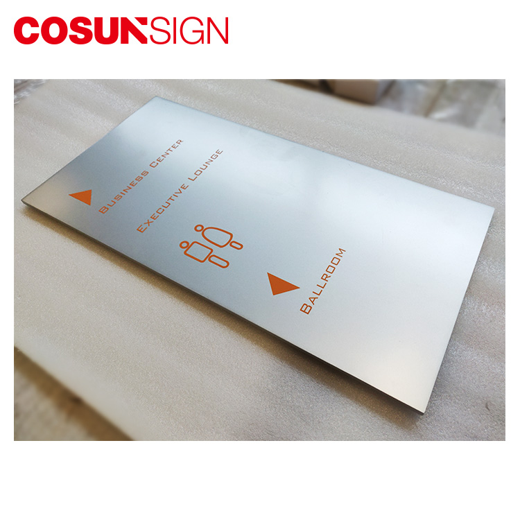 Cosun All Size Painted Directional Metal Plate Logo-8