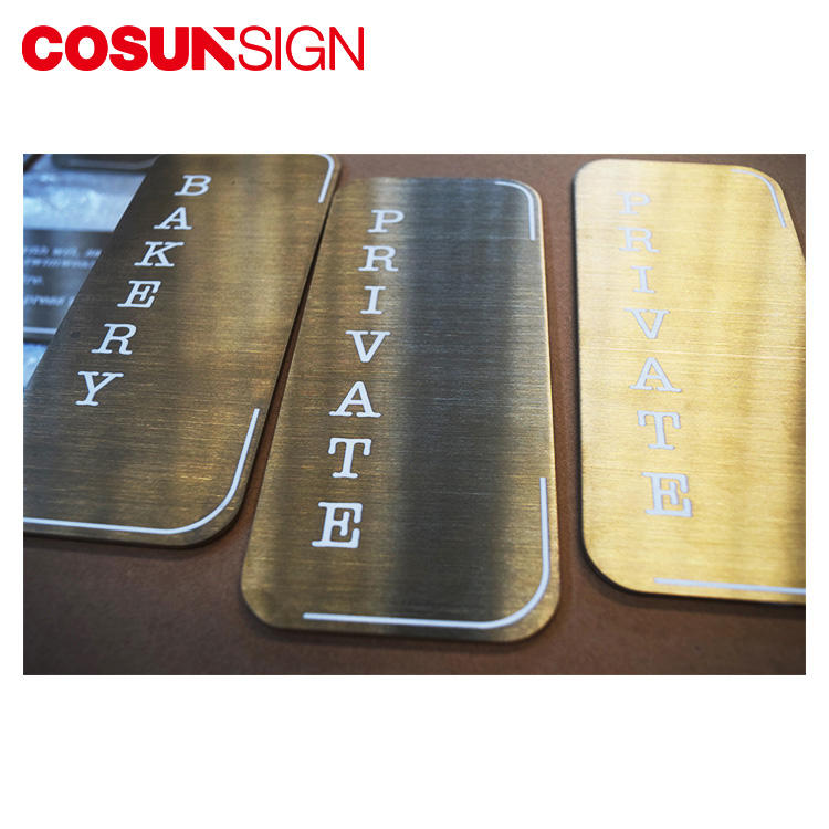 Cosun Aluminum Brushing Blank Number Plate