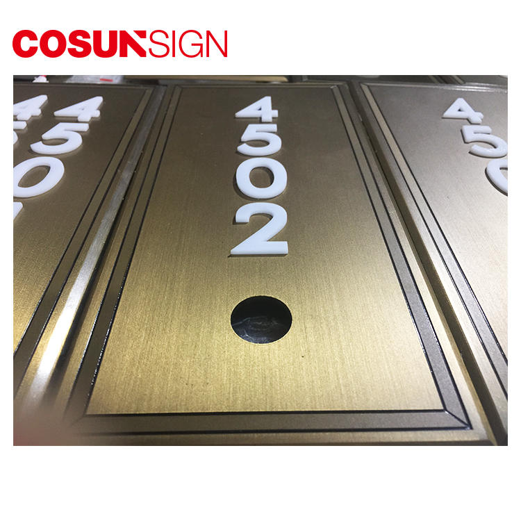 Cosun Brass Custom Logo Door Number Plates