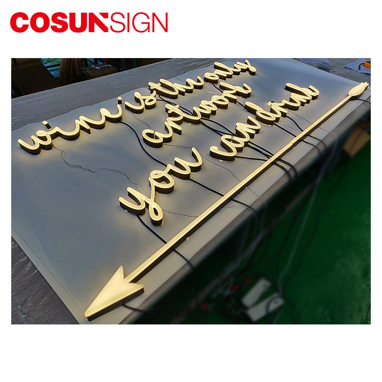 COSUN hot-sale light up signs manufacturers for warning