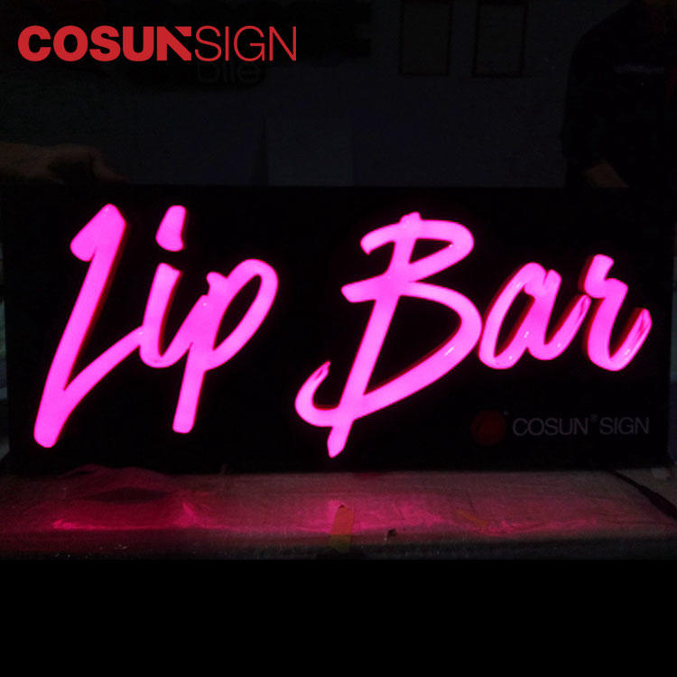 Lip Led Neon Sign Customized Illuminated 3D Clear Acrylic