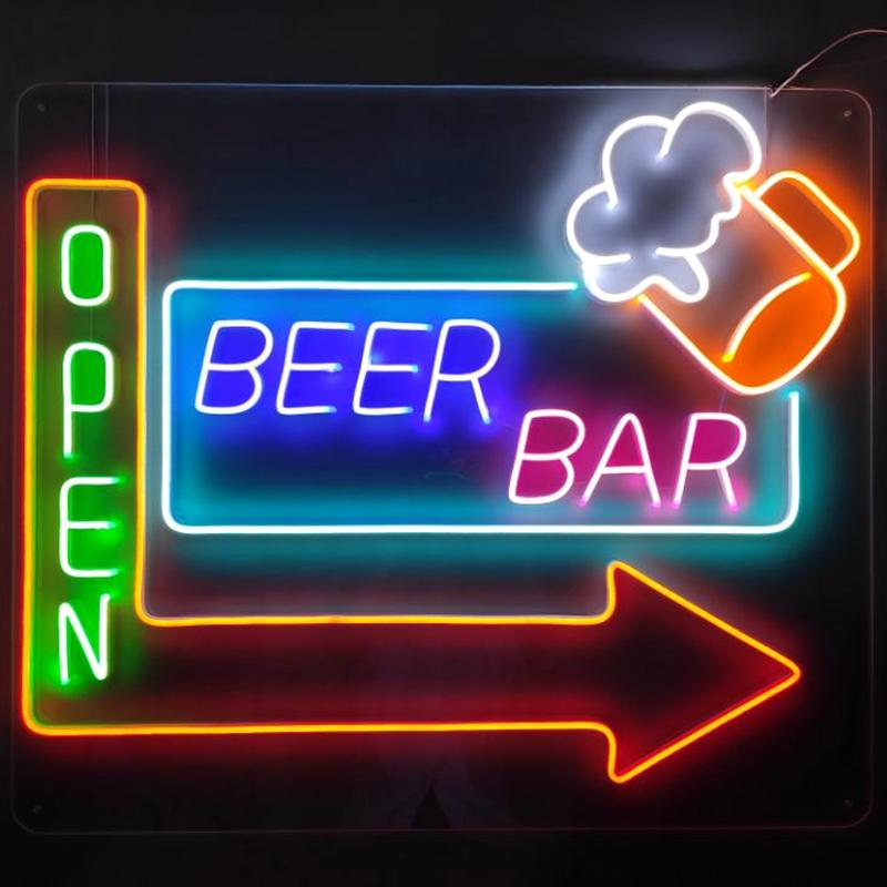 Custom lighted home bar signs hot-sale company for promotion
