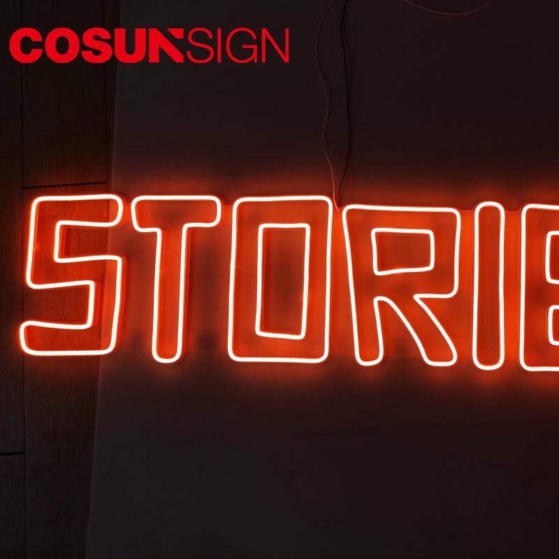 Custom Neon Signs Cheap Cosun Factory Direct Sales Flush Mount