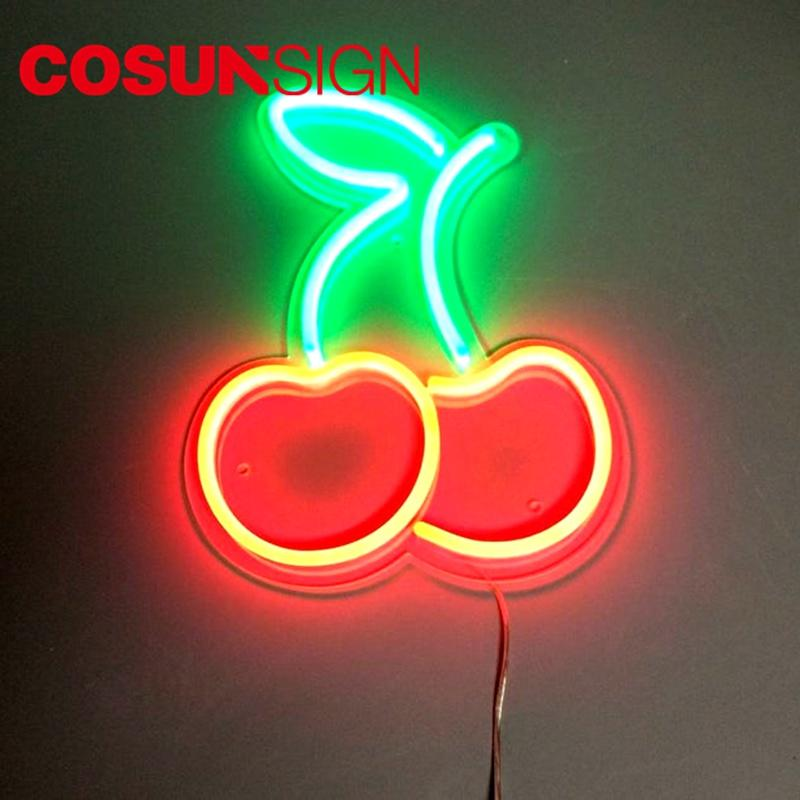 Cherry Sign Led Neon Cosun Promotional Stand Off Mount