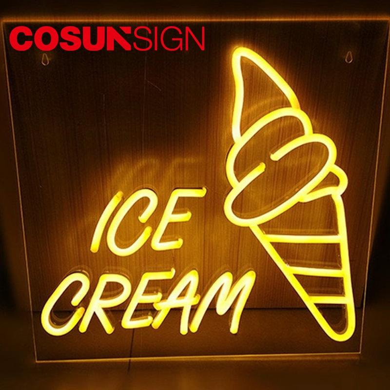 Ice Cream Neon Sign Cosun Custom Design Energy Saving