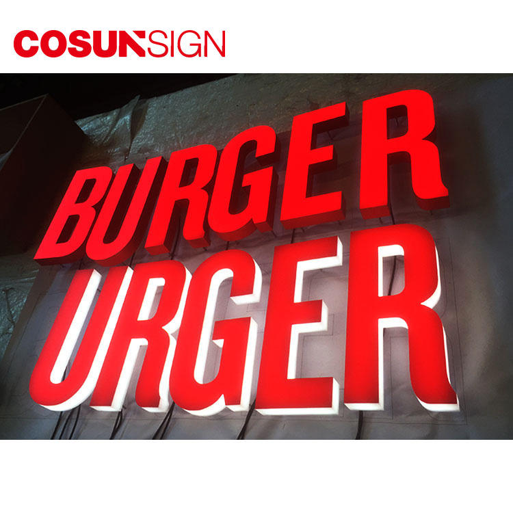 3D Acrylic Led Sign Cosun Odm Customized Shape Manufacturer