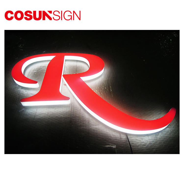 Acrylic Led Frontlit Sign Cosun Outdoor Electric Light Supplier