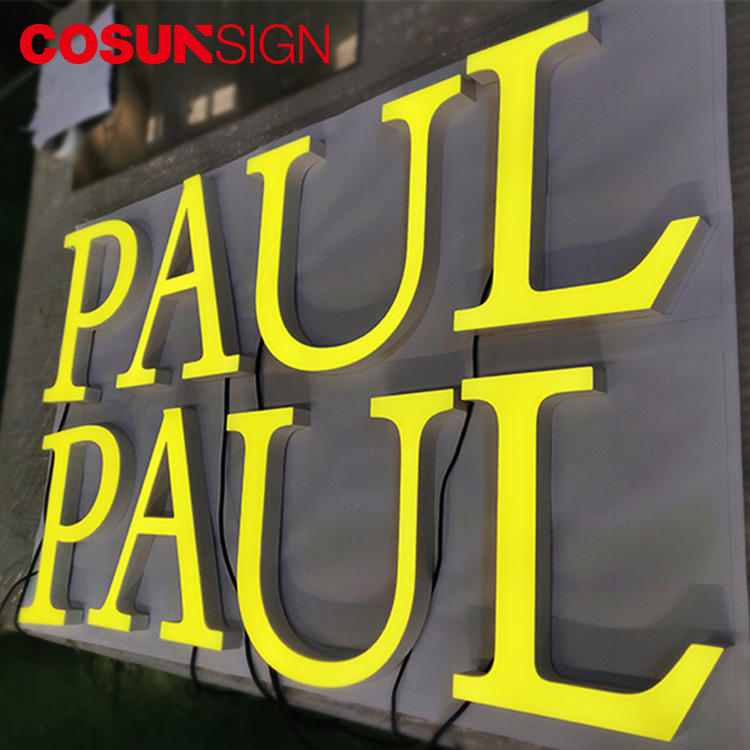 Acrylic Letter Led Cosun Unbreakable Painted Surface Outdoor